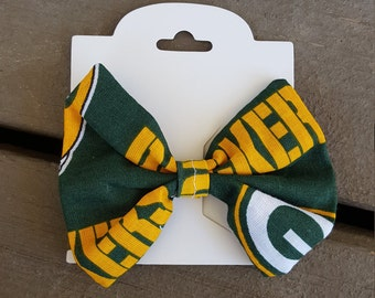 Green Green Bay Packers Hair Bow