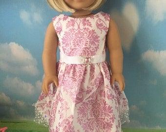 "Pink Super Glitz Dress for 18"" Dolls like American Girl Dolls"