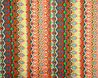 """Designer Fabric, Abstract Print, Dress Material, Craft Fabric, Sewing Decor, Cotton Fabric, 42"""" inch Apparel Fabric By The Yard ZBC5474"""