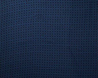 """Dress Fabric, Honeycomb Print, Blue Fabric, Designer Fabric, Sewing Accessories, 57"""" Inch Rayon Fabric By The Yard ZBR472A"""