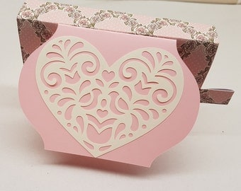 Heart Gift box card