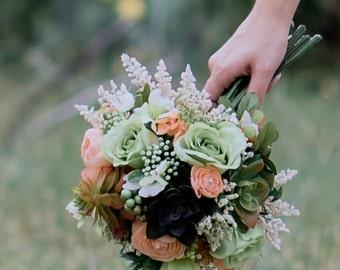 Green Goddess Succulent Bouquet