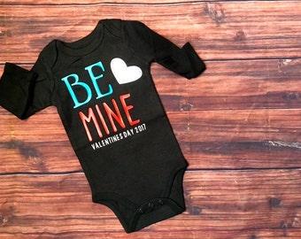 Valentine's Day Infant Bodysuit or Toddler Shirt | Valentines Day Boy  | Be Mine  | Valentine Boy Toddler Shirt