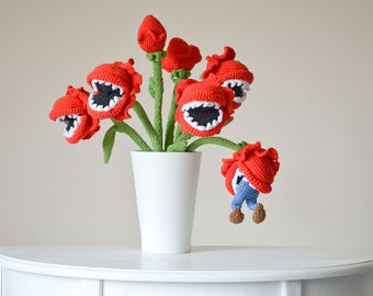 Crochet PATTERN No 1707 Bouquet of man-eating plants by Krawka,