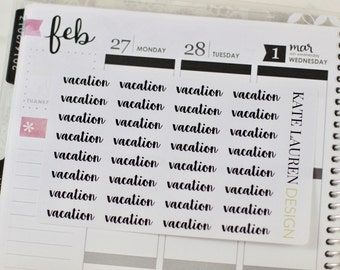 Vacation Planner Stickers, Vacation Stickers, Script Stickers, Script Planner Stickers