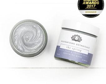 The Spring: Blue Clay & Indigo Leaf Soothing Face Mask for Sensitive Skin, Award Winning, All Natural, Bentonite, Allergen Free