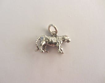 Sterling Silver 3-D Tiger Charm - 2.83g
