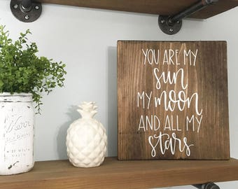 All My Stars - Wood Sign