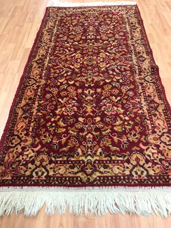 """2'2"""" x 4'3"""" American Oriental Rug - Hand Made - 100% Wool - Made in USA"""