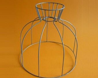 Vintage Galvanized Wire Frame Lampshade