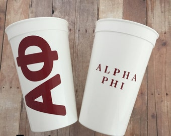Alpha Phi Sorority Cup; APhi Cup; Alpha Phi Cup; Aphi Stadium Cup; Alpha Phi Tumbler; Alpha Phi Gift; Sorority Cup