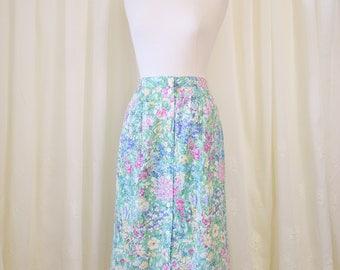 Wildflower Vintage Midi Skirt, Medium Large 3812