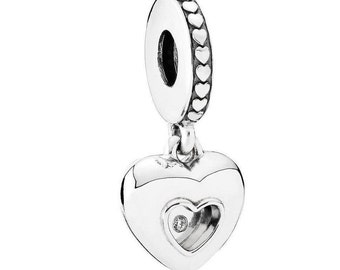 "Pandora  2017 Club Charm ""Limited Edition"" Heart with Diamond comes in Pandora Charm Box  #792092D"
