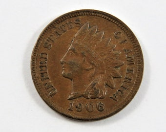 U.S. 1906 Indian Head One Cent Coin.Full Liberty.