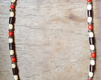 Men's wood surfer necklaces. Handmade. Free postage.