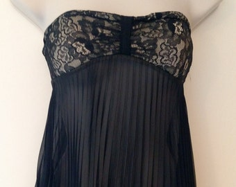 Dance Costume Black strapless Size-S