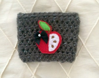 Teacher Coffee Cozy, Crochet Coffee Cozy, Coffee Sleeve, Teacher Gift, Teacher Appreciation