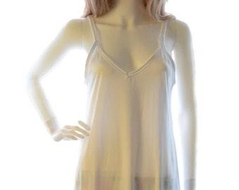 Long slip, white  slip chemise FULL SLIP white chemise