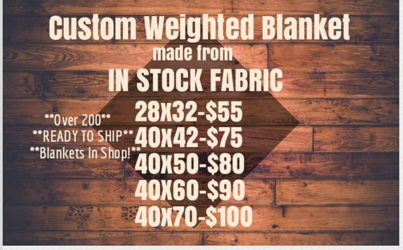 Custom Weighted Blanket, In Stock Fabric, Up to Twin Size 5 to 15 Pounds, 5 to 20 lb, Adult Weighted Blanket, SPD, Autism, Weighted Blank