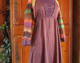 Bolero knitted by hand with Noro Kureyon wool