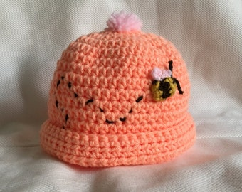 Baby Beanie with Buzzing Bee & Tassel