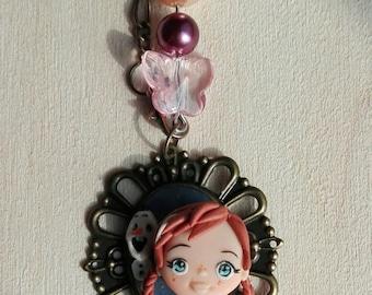 Anna Frozen charm necklace