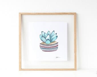 Cactus print: Succulent print   botanical print   cactus wall art   cactus art print   cacti art   succulents and cacti.  SERIES B