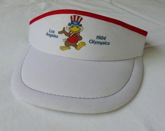 1984 Los Angeles Olympic Games visor cap hat - Sam the eagle - vintage 1980s - one size