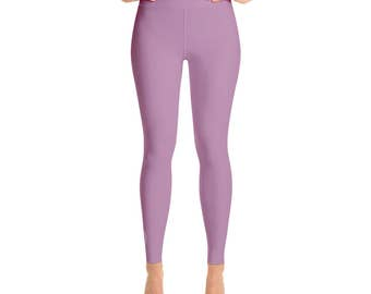Opera Mauve Leggings - Womens Yoga Clothes, High Waisted Workout Yoga Pants