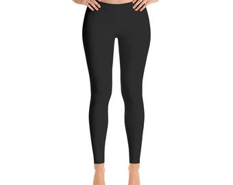 Black Workout Pants - Solid Black Leggings, Yoga Pants for Women