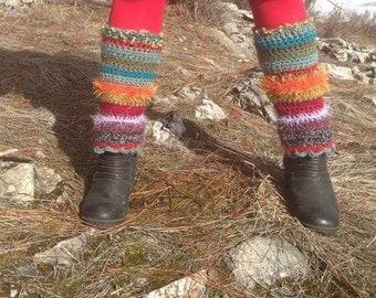 Popcycle Fluffers Legwarmers crochet Gators Leggins