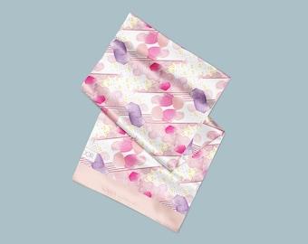 Printed Silk Scarf . cosmic Illustration . Spring Fashion Accessory . Art Illustration - Co-designed Printed Scarf . Printed Art