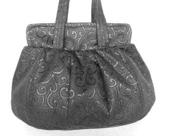 BLACK SHOULDER BAG / Elegant black bag / Black bag