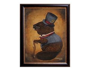 Victorian Gentleman Beaver Print
