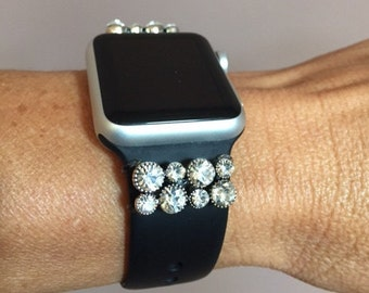 Crystal Bling Charms for Apple Watch, Fitbit Charge 2 or Fitbit Blaze fitness tracker bands