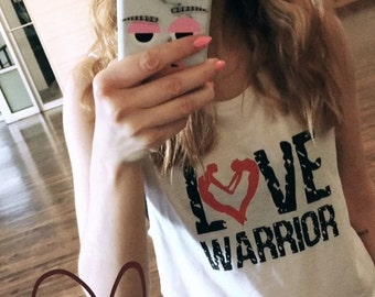"""New Design """"LOVE WARRIOR"""" Ladies yoga activewear MUSCLE tank Style 803 tank with small Logo"""