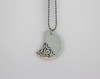 Waxing Moon Pendant + chain