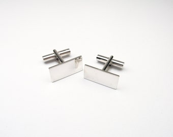 Cufflinks Sterling Silver 925 rectangular rectangle of cufflinks cuff links