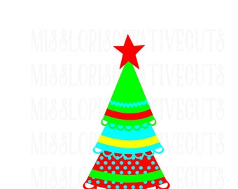 Ruffle Christmas Tree SVG Cut file christmas  cut file