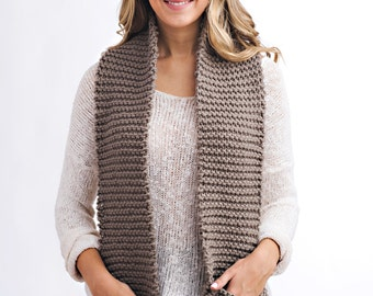 Knitting Pattern - Knit Pocket Scarf // Be Courageous