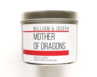Mother of Dragons Scented  Candle. Game of Thrones Inspired Candle, Khaleesi, Bookish Candles