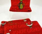 Male dog belly band - dog diaper - Potty training aid - house breaking- Made from Dr. Seuss Grinch fabric - READY TO SHIP