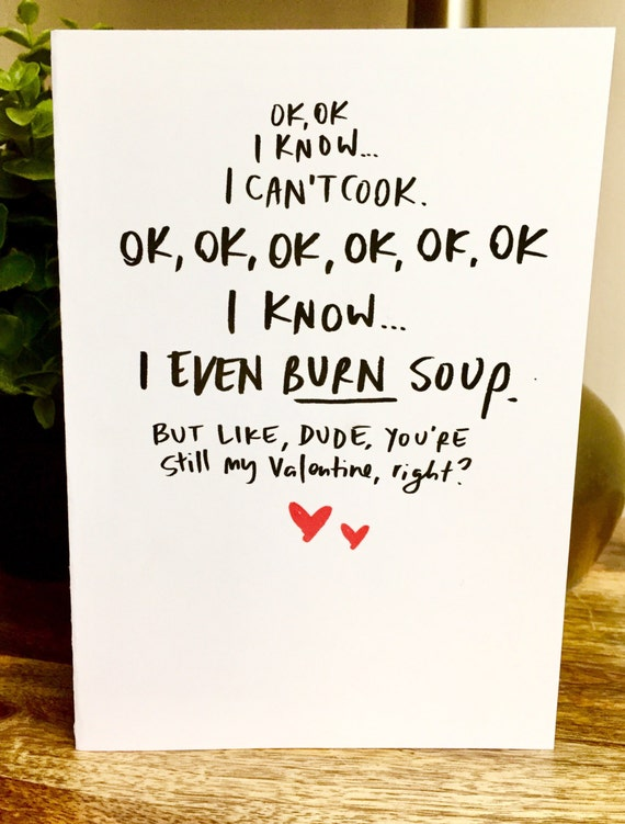 Valentines Day cards for him be my valentine hand lettered