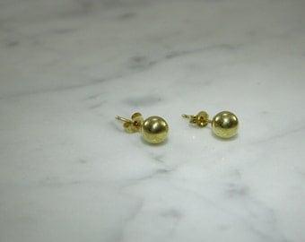 14k Gold 5mm Ball Pierced Earrings