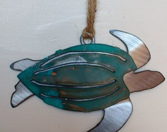 Patina Leatherback Sea Turtle Ornament