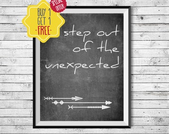 Prints Quotes,Blackboard signs,Arrow,Inspirational quote,Office wall décor,gift for teen,black and white prints,wall art for boys room