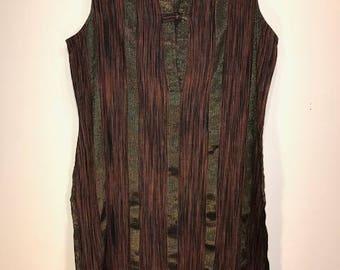 Vintage Kashmir Striped Tunic Dress