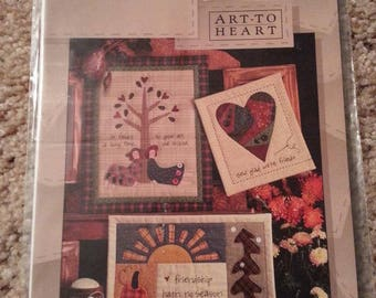 Forever Friends #133 by Nancy Halvorsen - Art to Heart - Friendship Wall Quilt - Quilt Applique - Uncut Stitchery Pattern