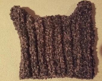 Hand Knit Animal Hat: Ships Immediately!