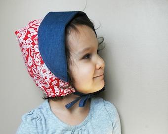 Reversible Sun Bonnet – Down on the Farm